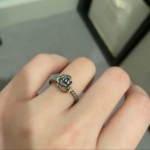 pandora Out of Print Ring 925 silver and 14k gold